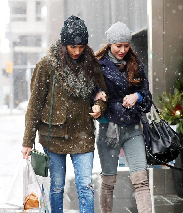 Meghan Goes Shopping in the Snow