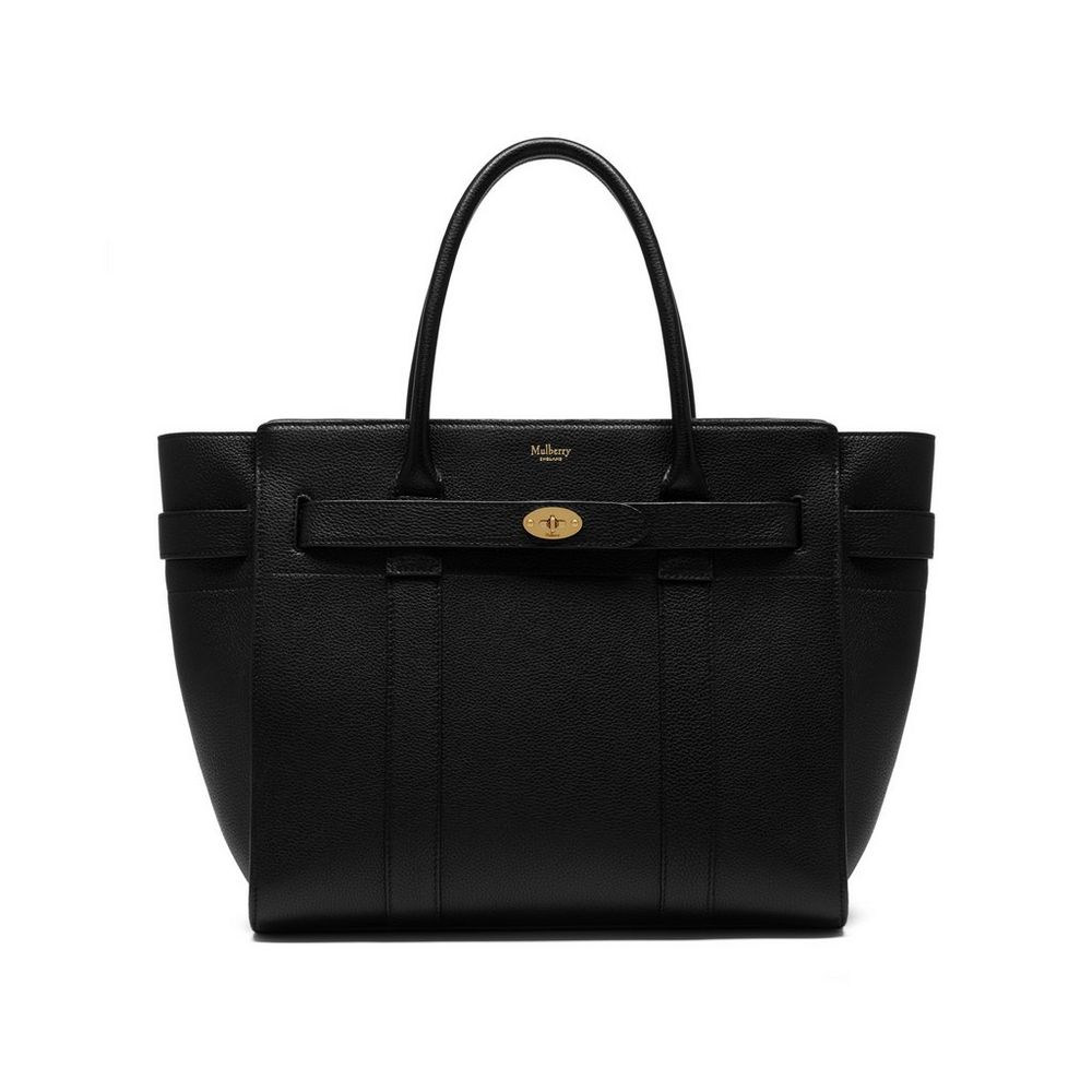 Mulberry zipped bayswater in black for The bayswater