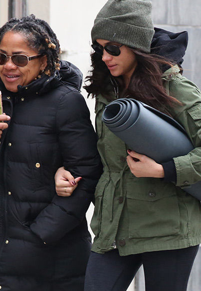 Meghan and Her Mom Out in Toronto