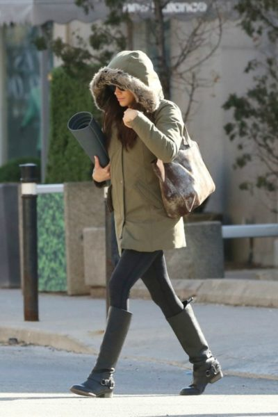 Meghan Braves the Cold In Toronto