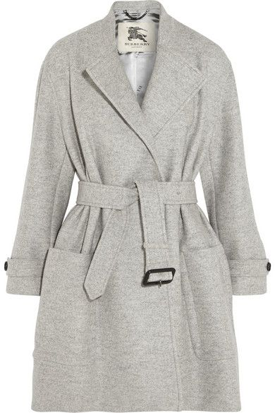 Burberry Belted Wool Wrap Coat