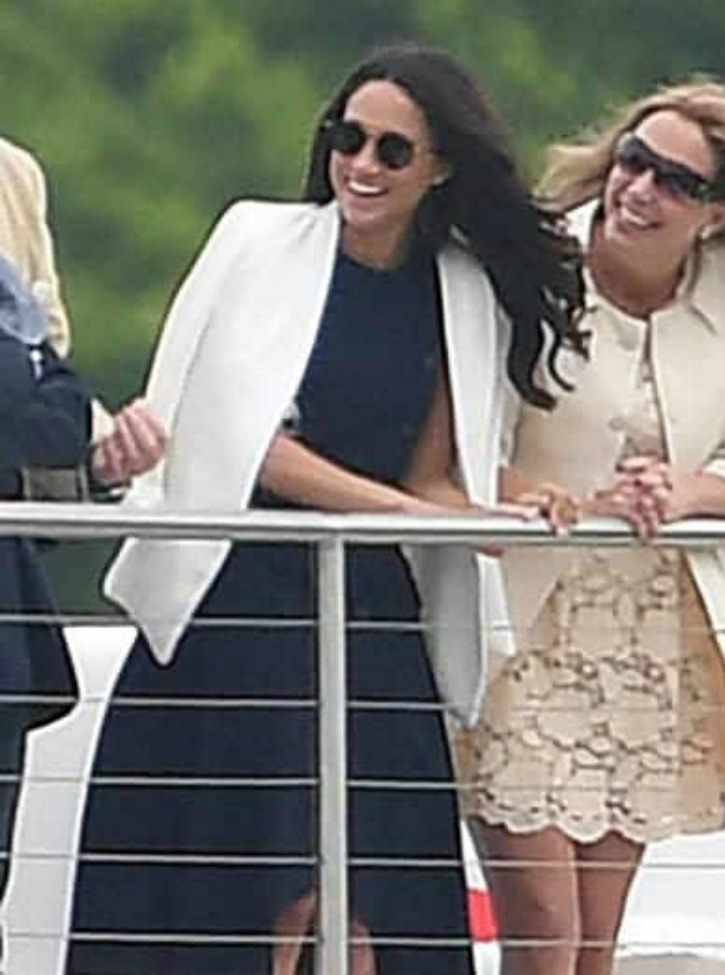 Meghan Watches Prince Harry Play Polo