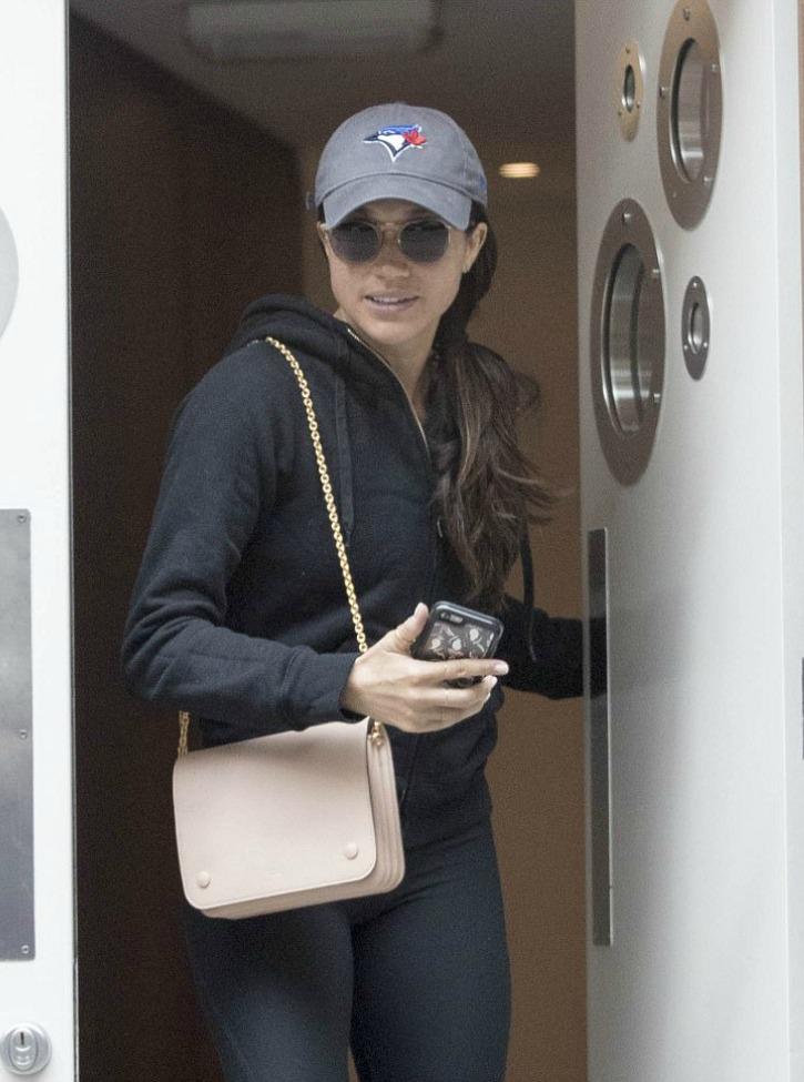 Meghan Spotted Leaving London Spa