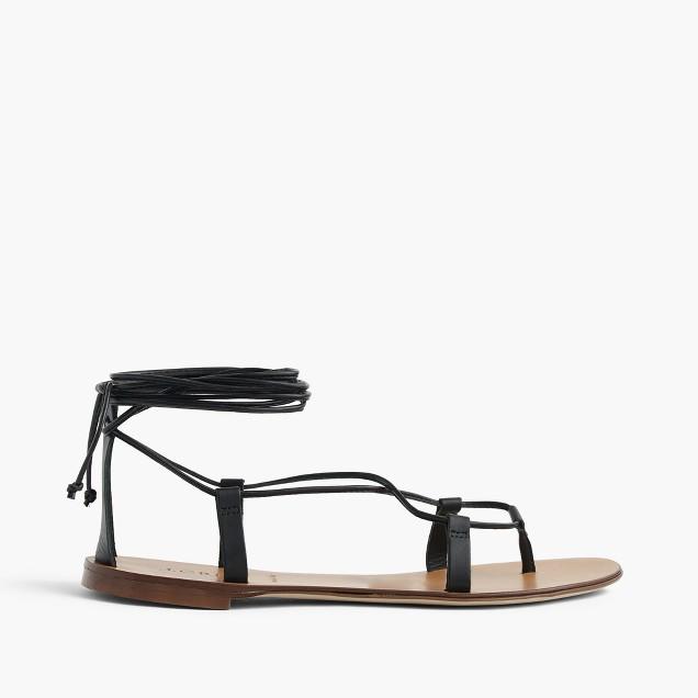 7c0d2e41f76cd Leather tie up sandals