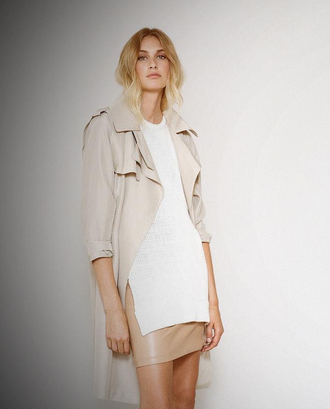 p online drapes coat draped khaki shoulder drop trench jackets asymmetric m light
