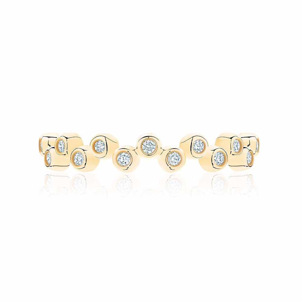 birks iconic stackable yellow gold and diamond ring