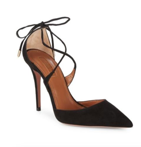 Black Aquazzura Meghan Markle Shoes