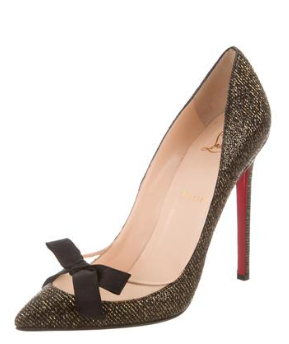 fc1fef77d3c4 Christian Louboutin Love Me Pumps in Black Gold - Meghan s Mirror