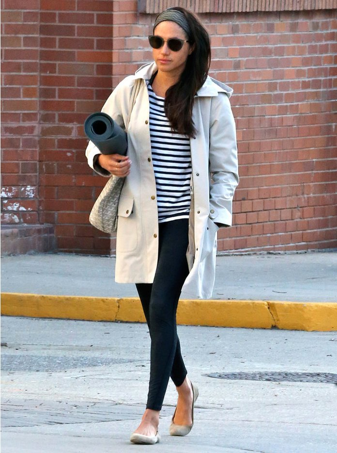 Stylist saturday meghan markle s casual weekend look for La fitness t shirt