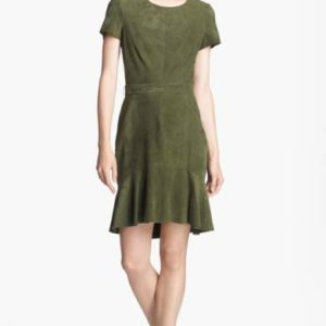 rachel zoe green suede dress Meghan Markle