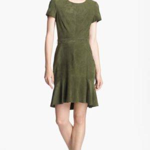 rachel zoe green suede dress Meghan Markle