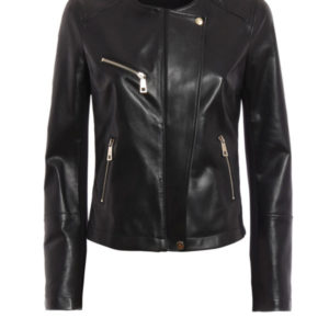 023d03d30c Fay Leather and Jersey Jacket