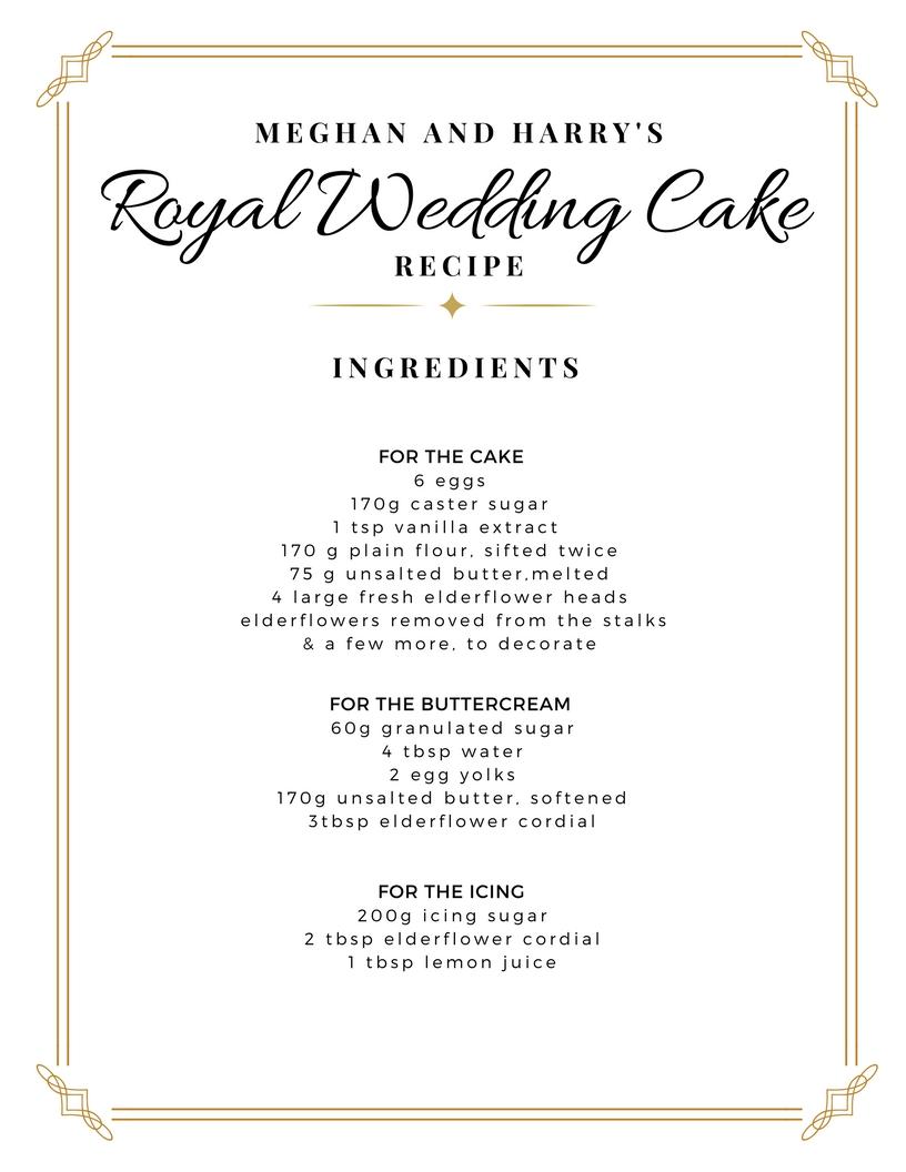 Meghan Markle\'s Wedding Cake