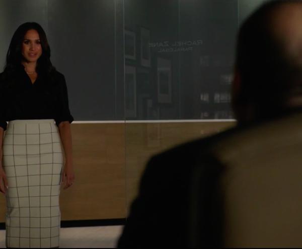 Meghan Markle Suits Windowpane Skirt Victoria Beckham