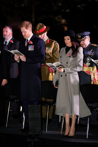 Meghan Markle Attends Anzac Day Dawn Services