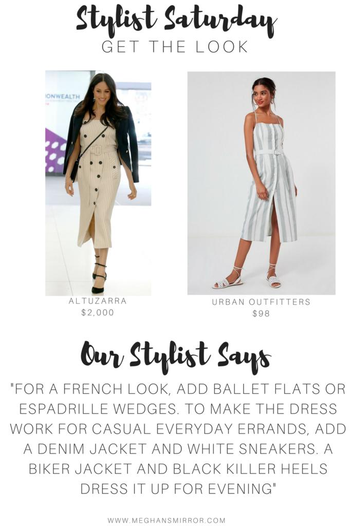Meghan Markle Altuzarra Striped Dress French Style
