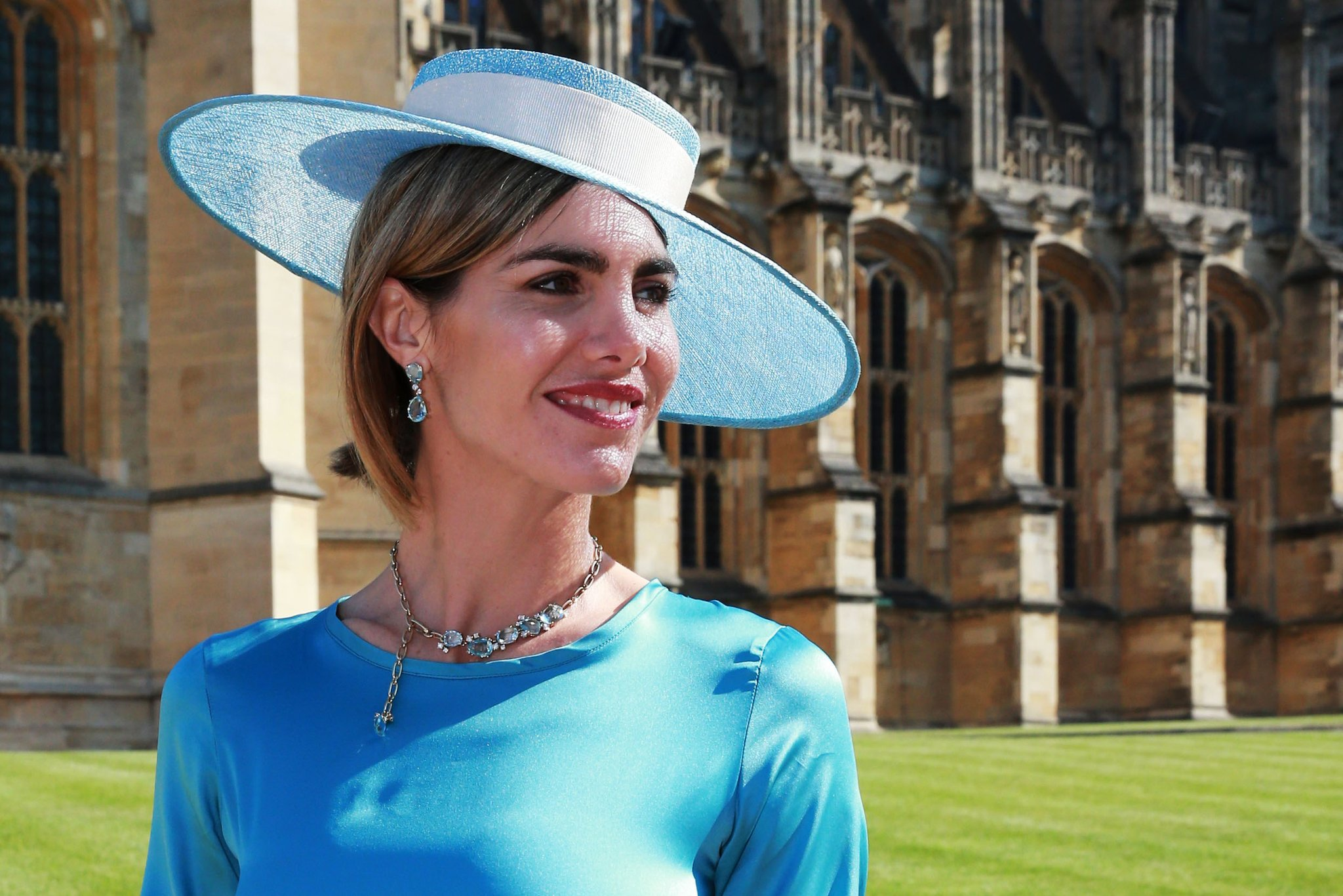 Royal Wedding Guest Style Kate Embroidery Blouse In Blue Beatrice Clothing Delfina Blaquier