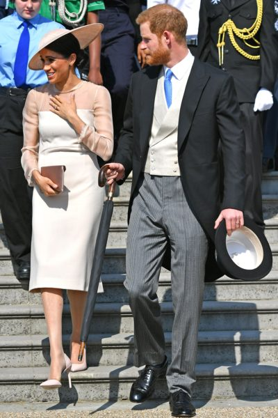 Meghan and Harry Attend the Prince Of Wales' Birthday Garden Party
