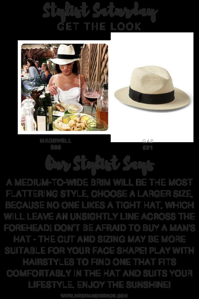 Meghan Markle Panama Hat Style