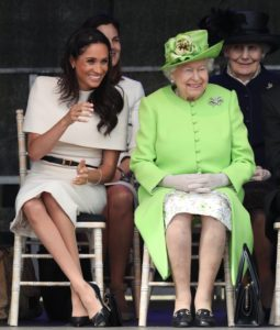 Meghan joins Her Majesty in Chester