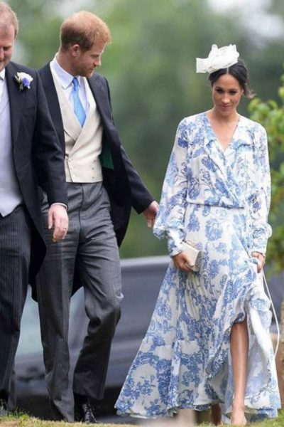 Meghan and Harry attend Spencer Family Wedding