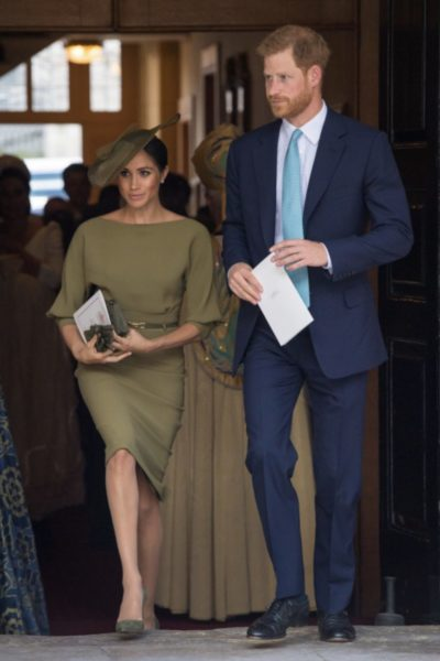 Meghan & Harry Attend the Christening of Prince Louis