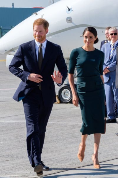 Meghan & Harry Arrive in Dublin