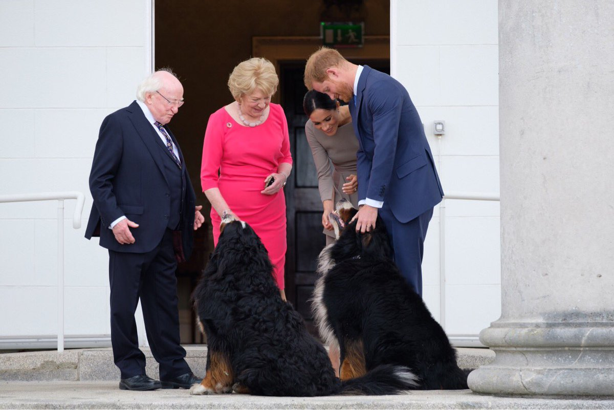 Meghan And Harry Meet The President Of Ireland