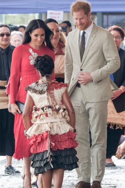 Meghan & Harry Arrive in Tonga