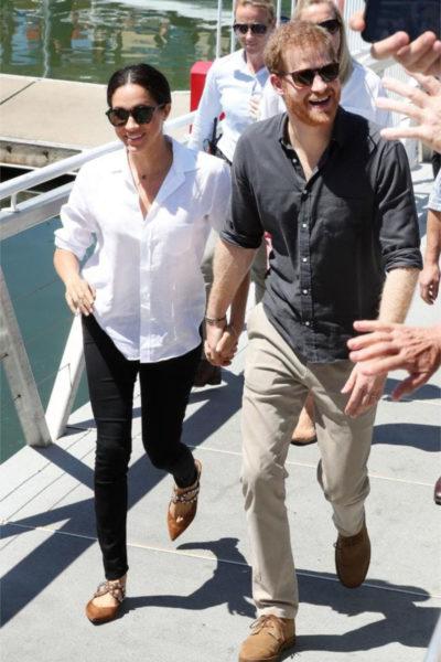 Meghan & Harry Depart for Fiji