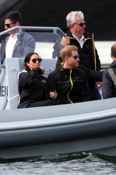 Meghan & Harry Watch Invictus Sailing
