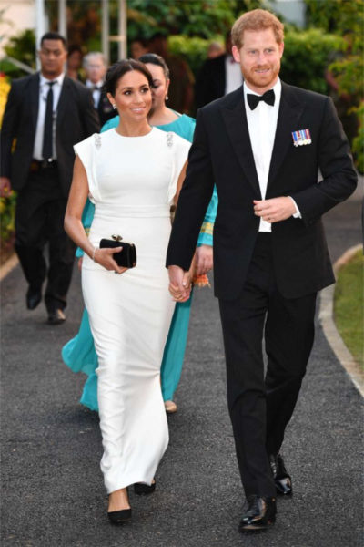 Meghan & Harry Attend Reception with the King of Tonga