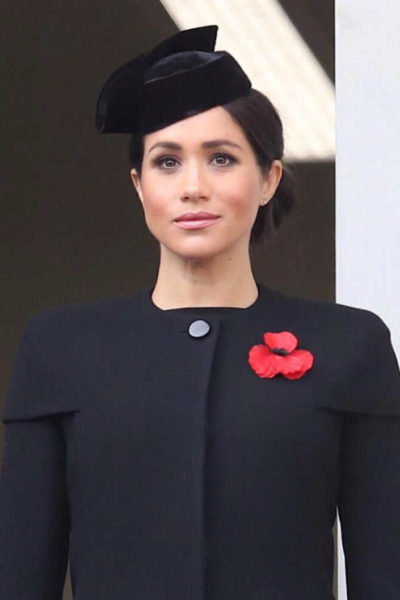 Meghan commemorates Remembrance Sunday 2018